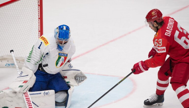 Россия одержала самую крупную победу в своей истории на ЧМ; Овечкин открыл счет голам
