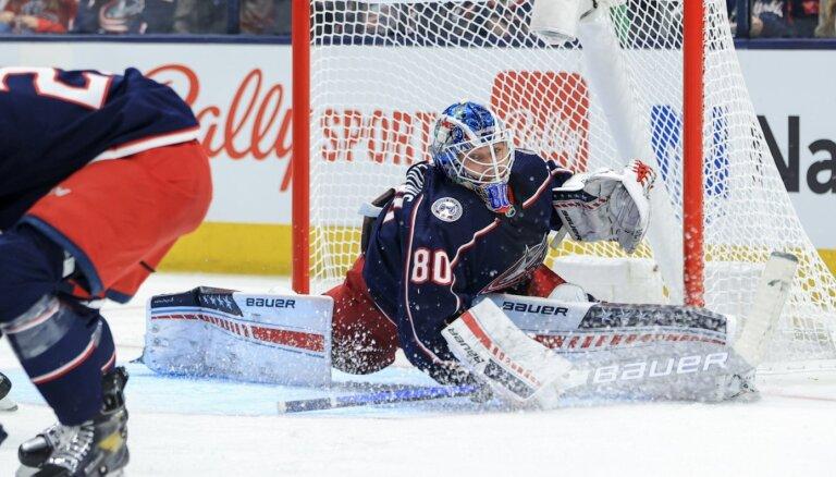 Latviešu nakts NHL: Merzļikins un Girgensons izpelnās spēļu otrās zvaigznes godu