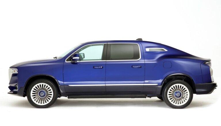 Itālieši uz 'Dodge' pikapa bāzes izgatavojuši 710 ZS limuzīnu 'Rolls-Royce' stilā