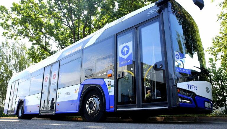 В Риге появится пять новых полос для общественного транспорта