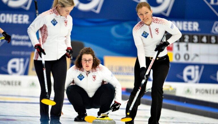 Latvijas kērlingistēm divi zaudējumi pasaules čempionātā