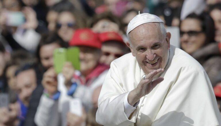 Pāvests Francisks 24. septembrī apmeklēs Latviju