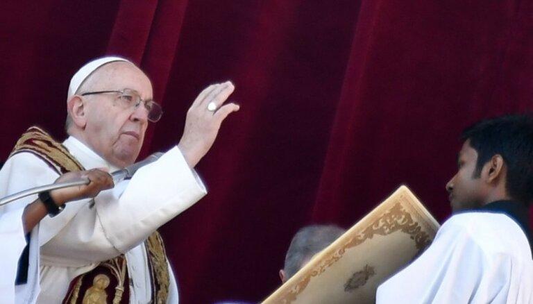 Pāvests aizlūdz par mieru Jeruzalemē un bērniem, kuri cieš karu plosītajā pasaulē