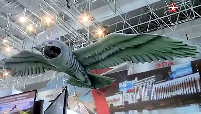Video: Krievijā prezentē pūčveidīgu dronu