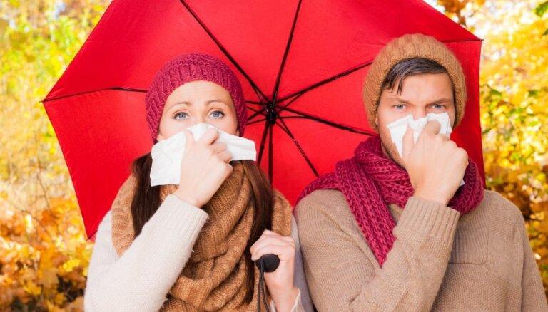 Saaukstēšanās, kunģa problēmas un depresija – tipiskākās rudens saslimšanas