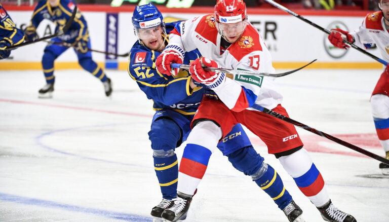 Сборная России с Малкиным и Кучеровым уступила шведам на этапе Евротура