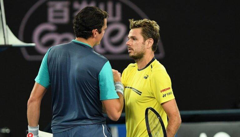 Gulbja pretinieks Vavrinka apstājas 'Australian Open' otrajā kārtā