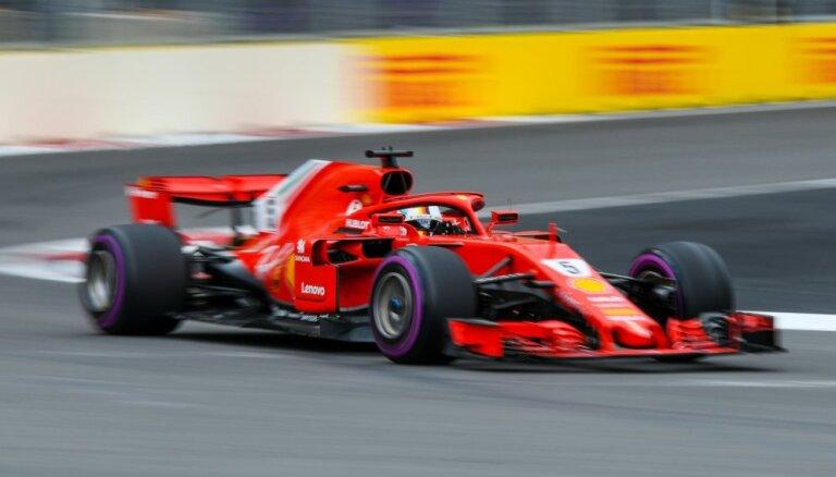 Fetels uzvar F-1 Azerbaidžānas 'Grand Prix' posma kvalifikācijā