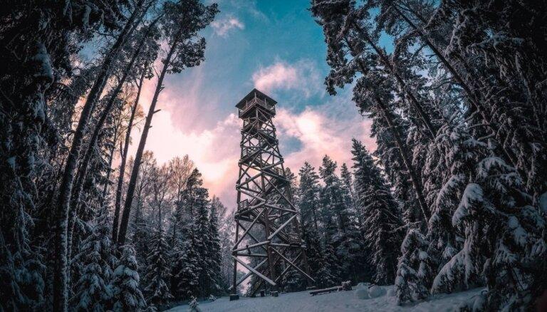 Maģiski foto: Ziemas pasaka dabas parkā 'Ogres Zilie kalni'