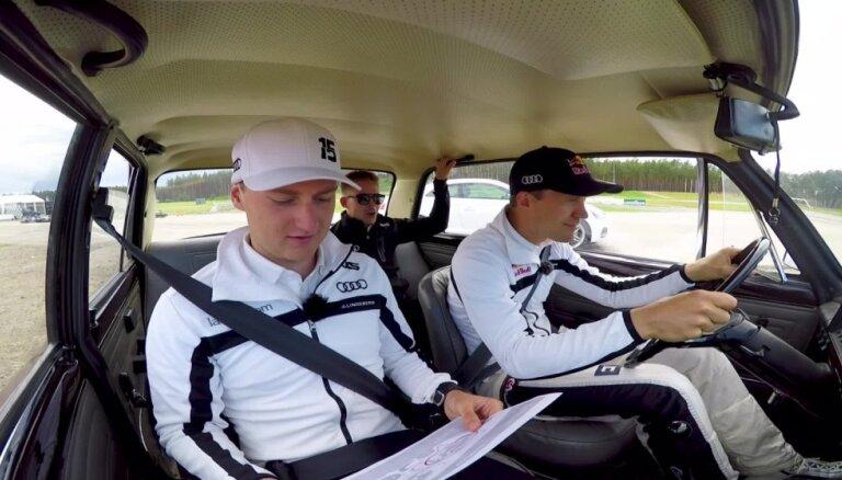 Video: 'World RX' čempions Ekstroms ar žiguli un komandas biedriem izbrauc '333' rallijkrosa trasi