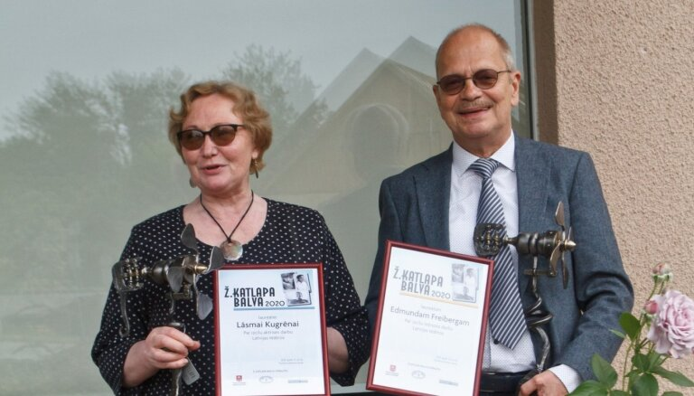 Žaņa Katlapa balvu šogad saņēmuši Lāsma Kugrēna un Edmunds Freibergs