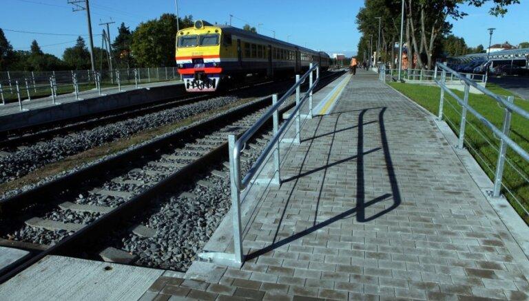 В Латвии построен первый высокий перрон
