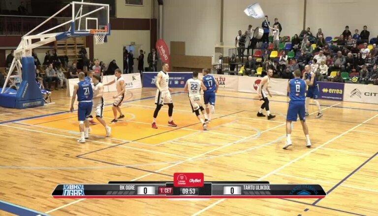 'OlyBet' basketbola līga: 'Ogre' - 'Tartu Ulikool'. Pilns ieraksts