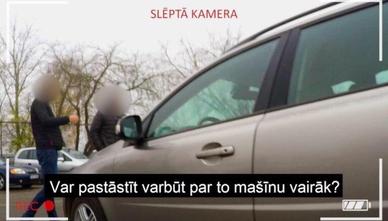 Slēptā kamera atmasko Latvijas negodprātīgos lietotu auto tirgotājus