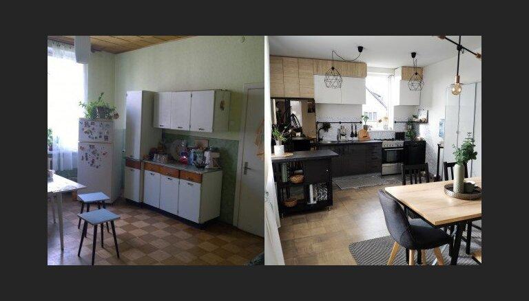No remonta putekļiem nav jābaidās: ieskats mājokļos, kas pilnībā mainījuši izskatu