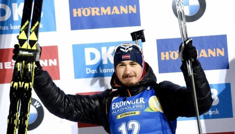 Rastorgujevs Pasaules kausa sprinta posmā Rūpoldingā sasniedz sezonas labāko rezultātu