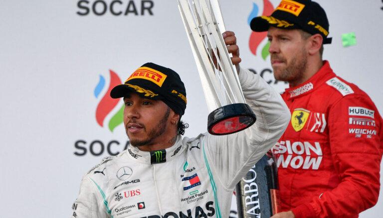 Hamiltons aicina 'Ferrari' izrādīt pretestību, ja tā vēlas cīnīties par čempionu kausu