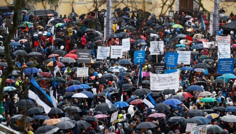 Faktu pārbaude: Igaunijā notikušais protests ar policiju bija saskaņots