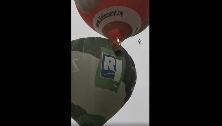 В небе над Сигулдой столкнулись воздушные шары