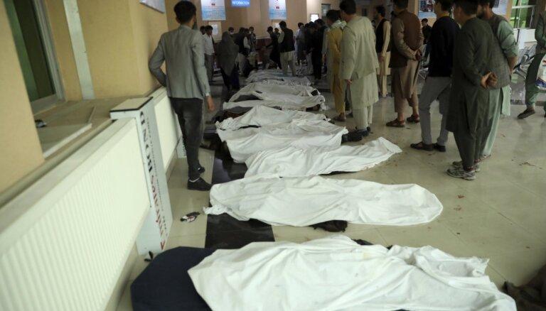 Терроризм. После серии взрывов у школы в Кабуле погибли десятки человек
