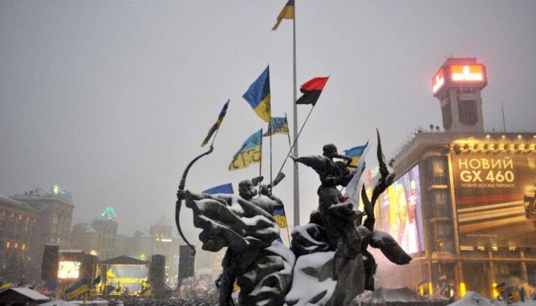 Drošībnieki bloķē Kijevas valdības kvartālu