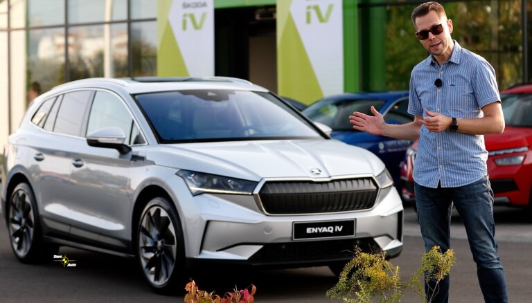 'Tavs Auto TV' iepazīst jauno 'Škoda Enyaq iV' elektromobili