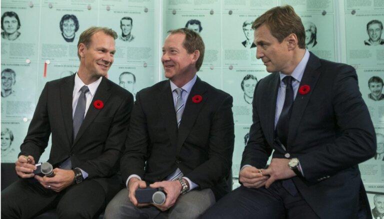 Bijušās NHL zvaigznes Fjodorovs, Lidstrēms un Prongers iekļauti hokeja Slavas zālē