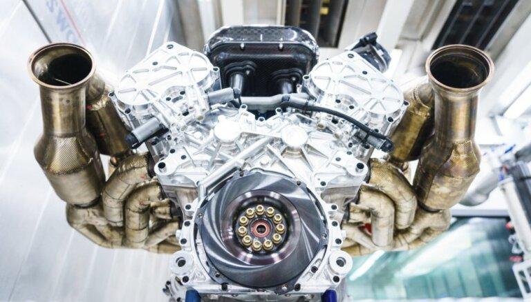 'Aston Martin' 1014 ZS atmosfēriskais V12 motors atbilst ekoloģiskajām normām