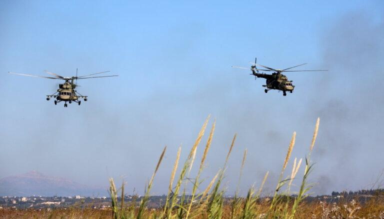 Российские морпехи во время учений высадились в Латакии