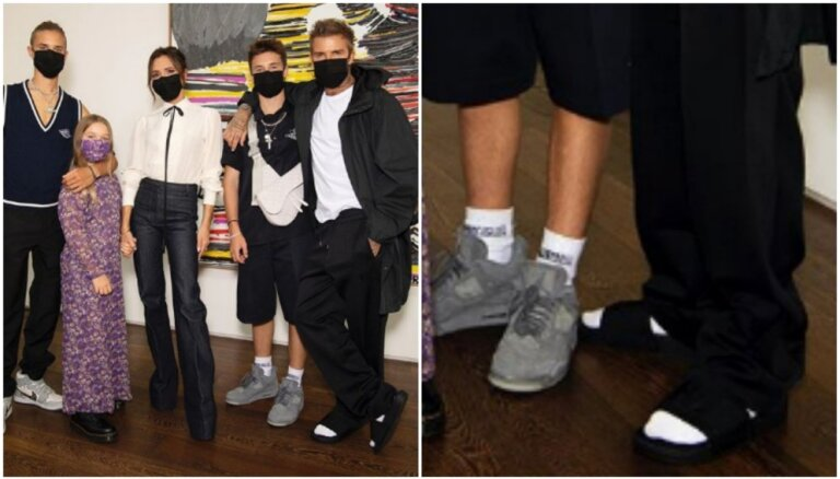 Преступление против моды: Дэвид Бекхэм надел носки с сандалиями