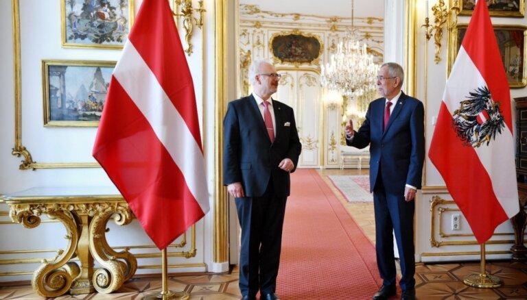 Diplomātisko attiecību simtgadē Latvijas un Austrijas prezidenti uzsver kopīgos mērķus