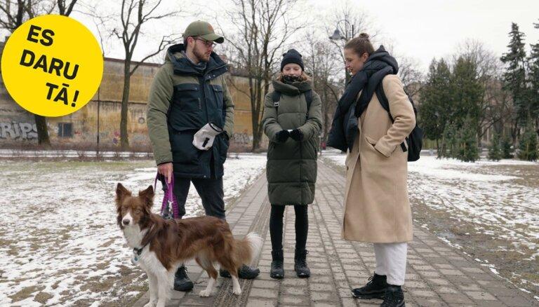 Savāc aiz sava suņa: Elīnas Vaskas un Reiņa Botera dabai draudzīgais eksperiments