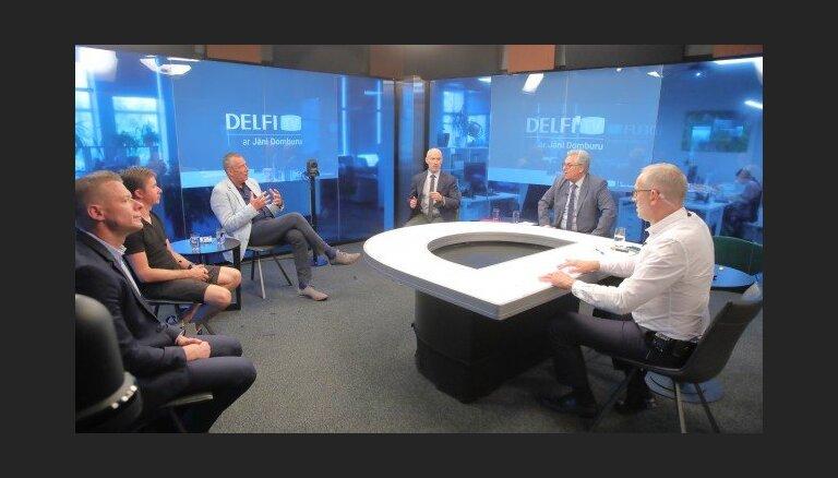 'Delfi TV ar Jāni Domburu' diskusija 'Covid-19 saslimstība samazinās: kuri ierobežojumi jāatceļ valdībai?'