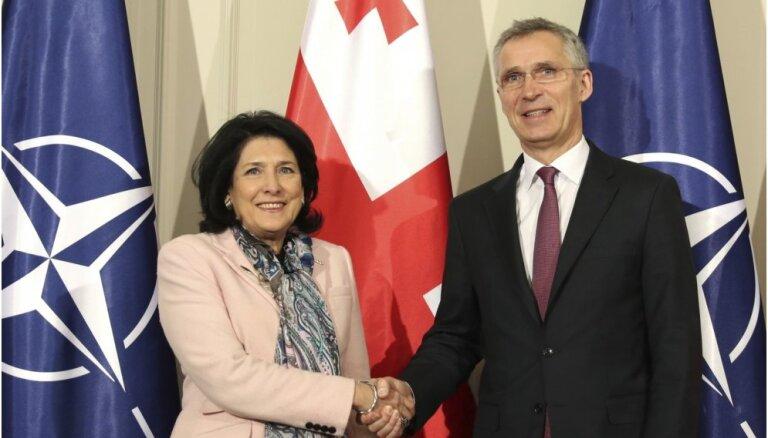 Gruzija iestāsies NATO, paziņo Stoltenbergs