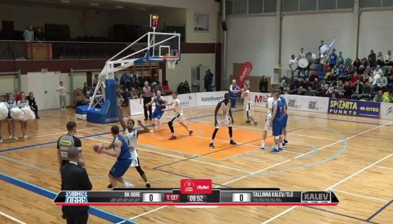 'OlyBet' basketbola līga: 'Ogre' - Tallinas 'Kalev/TLU'. Pilns ieraksts