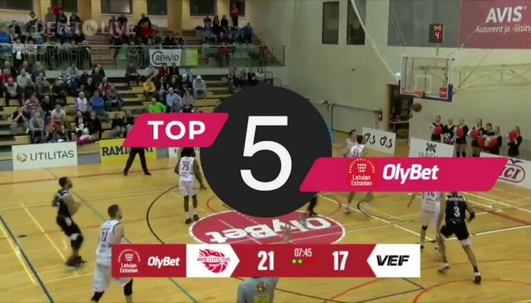 'OlyBet' basketbola līgas nedēļas TOP5 (30.01.2019.)