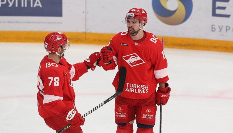 Daugaviņš ar uzvaras vārtiem nodrošina 'Spartak' vietu izslēgšanas spēlēs