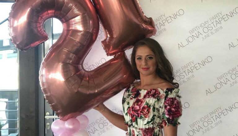 ФОТО: Алена Остапенко отметила 21-й день рождения в юрмальском ресторане