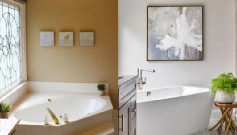 Pirms un pēc: septiņu vannasistabu brīnumainās pārvērtības
