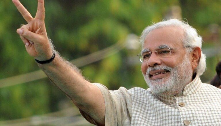 Indijas premjers Modi nodod amata zvērestu otrajam pilnvaru termiņam