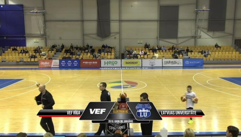 'OlyBet' basketbola līga: 'VEF Rīga' - LU. Spēles labākie momenti