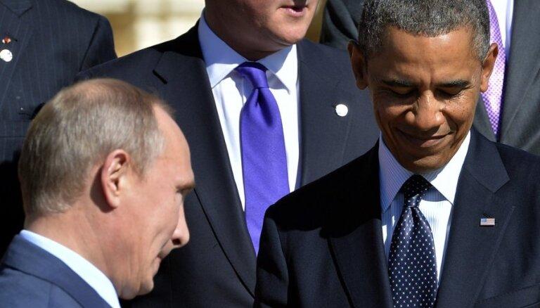 Sīrijas konflikts: Obama un Putins pēc tikšanās paliek katrs pie sava
