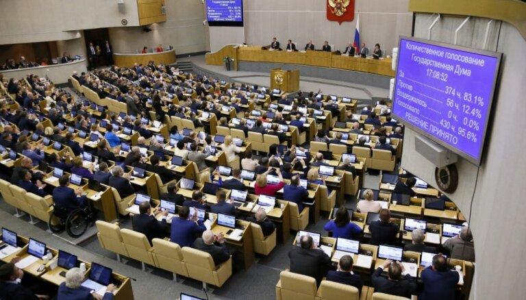 Krievijas parlaments izmeklēs 'ārvalstu iejaukšanos' saistībā ar protestu vilni