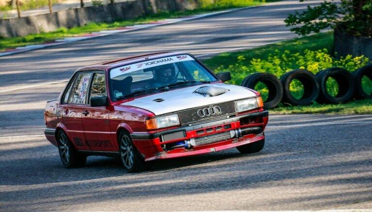 Minišosejas otrajā posmā Biķerniekos triumfē 'Audi 80 Quattro'