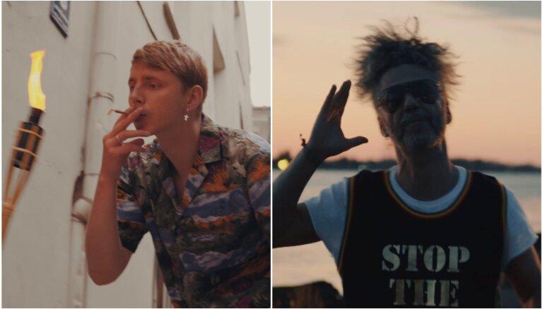 'Singapūras satīns' un Horens piedāvā ugunīgu klipu singlam 'Piededzini mann'