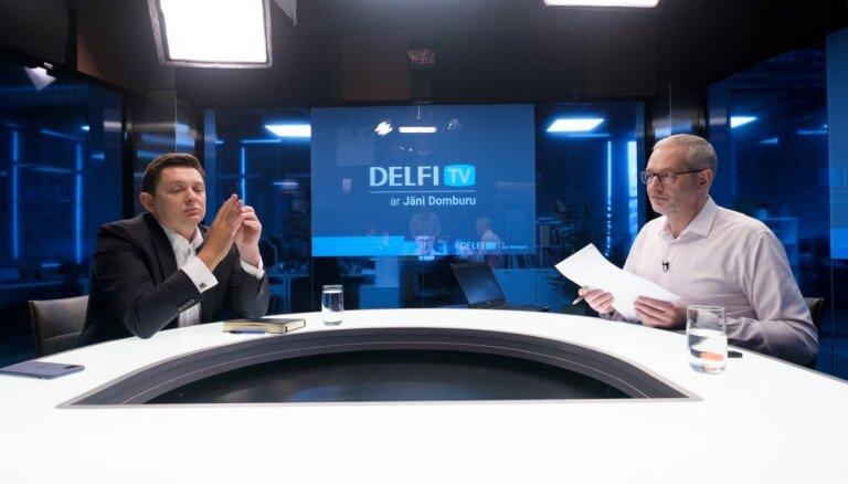 'Delfi TV ar Jāni Domburu' atbild Artuss Kaimiņš. Pilns ieraksts