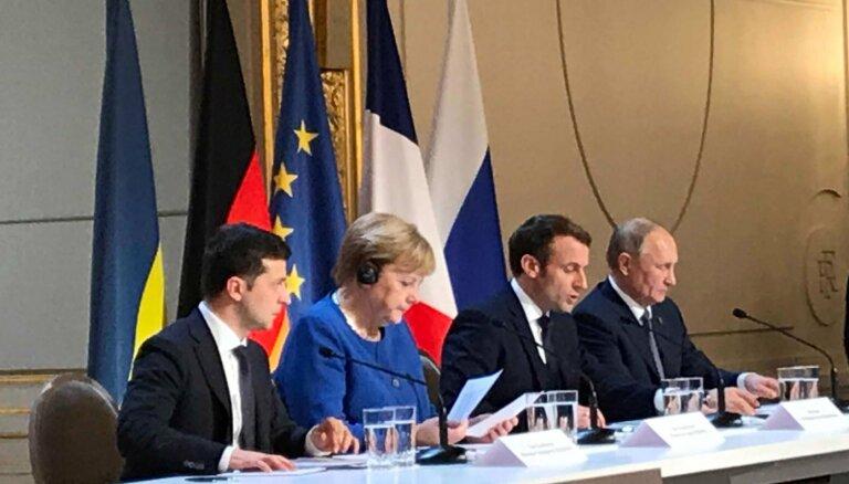 Pilnīgs un aptverošs pamiers Austrumukrainā: par ko vienojās Normandijas samitā