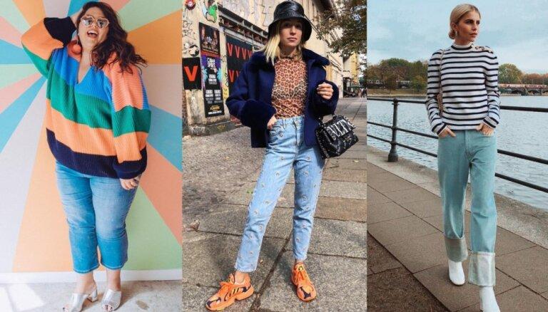 Visiem figūru tipiem: kā satriecoši izskatīties ērtajās džinsa biksēs