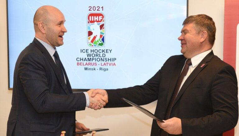 Kalvītis: ejam uz priekšu, lai Rīgā un Minskā notiktu labākais pasaules hokeja čempionāts vēsturē