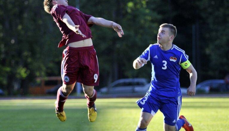 Šabala un Rakels nodrošina Latvijas U-21 futbola izlasei pārliecinošu uzvaru